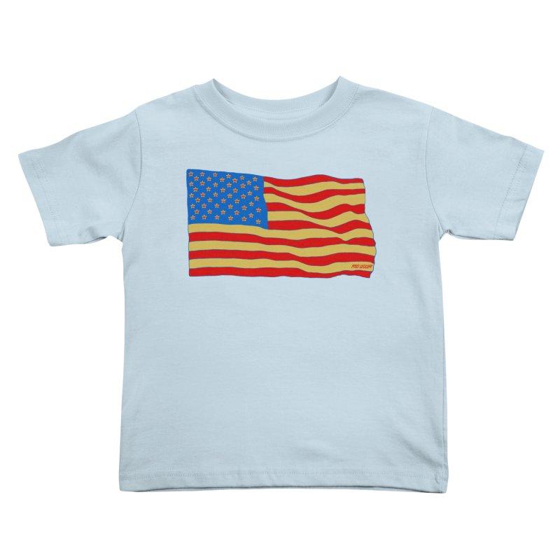 Red Legger Flag Kids Toddler T-Shirt by redleggerstudio's Shop