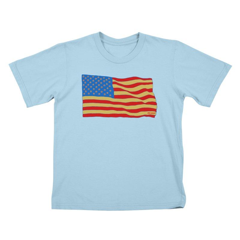 Red Legger Flag Kids T-Shirt by redleggerstudio's Shop