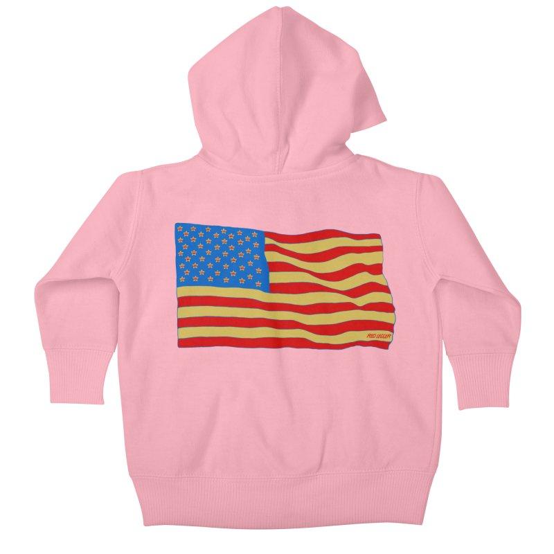 Red Legger Flag Kids Baby Zip-Up Hoody by redleggerstudio's Shop