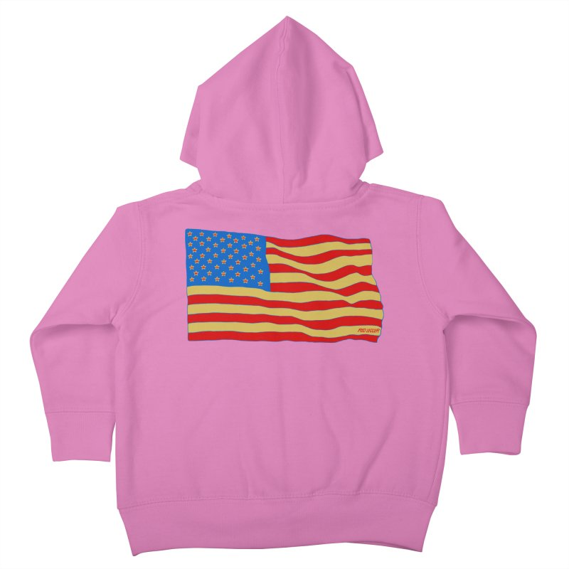 Red Legger Flag Kids Toddler Zip-Up Hoody by redleggerstudio's Shop