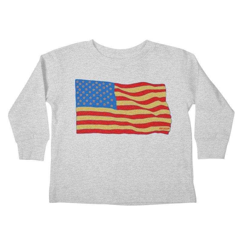 Red Legger Flag Kids Toddler Longsleeve T-Shirt by redleggerstudio's Shop