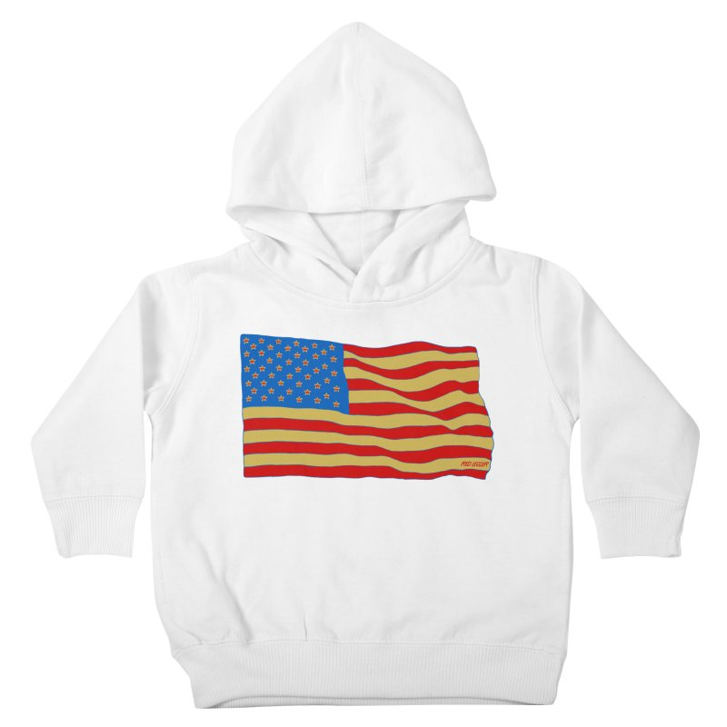 Red Legger Flag Kids Toddler Pullover Hoody by redleggerstudio's Shop