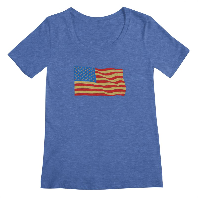 Red Legger Flag Women's Scoopneck by redleggerstudio's Shop