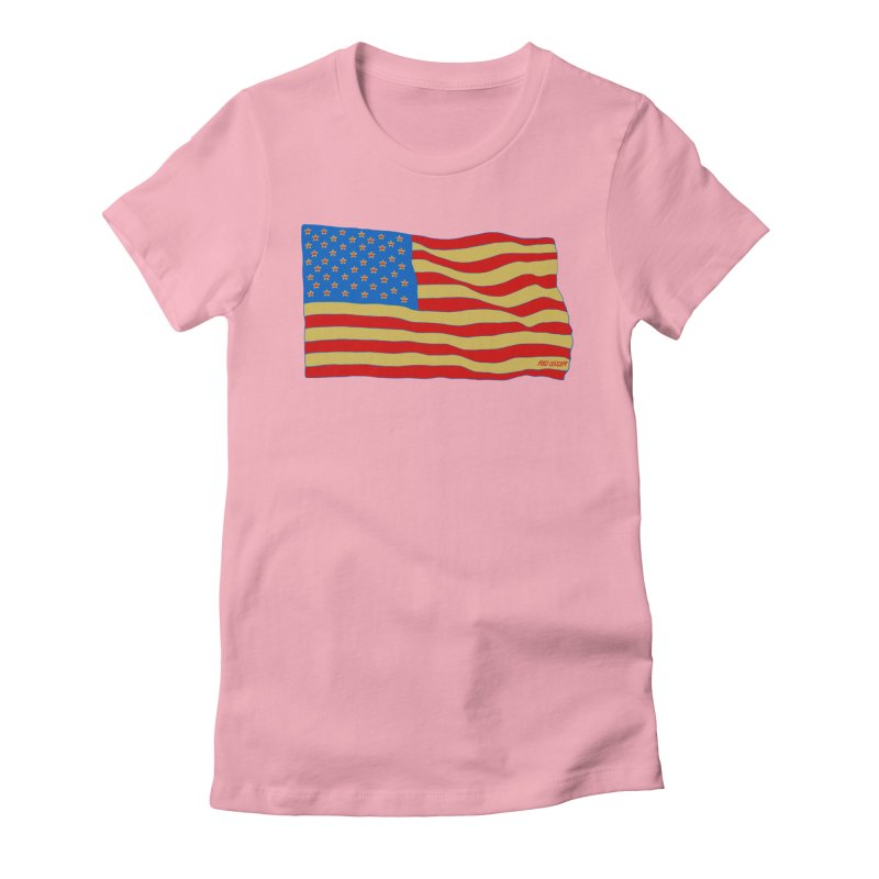 Red Legger Flag Women's Fitted T-Shirt by redleggerstudio's Shop
