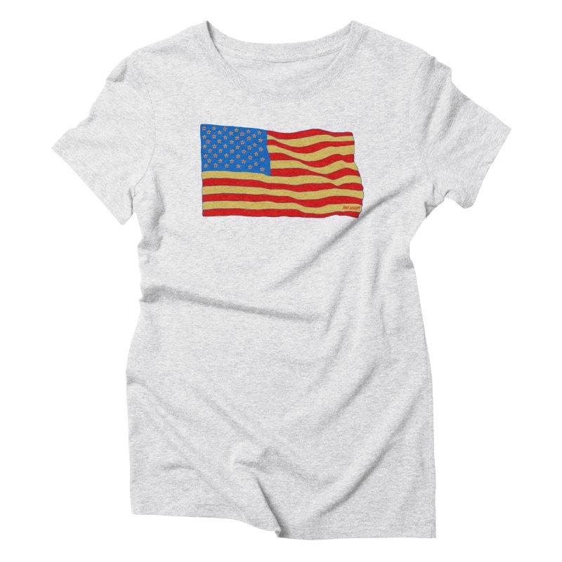 Red Legger Flag Women's Triblend T-shirt by redleggerstudio's Shop