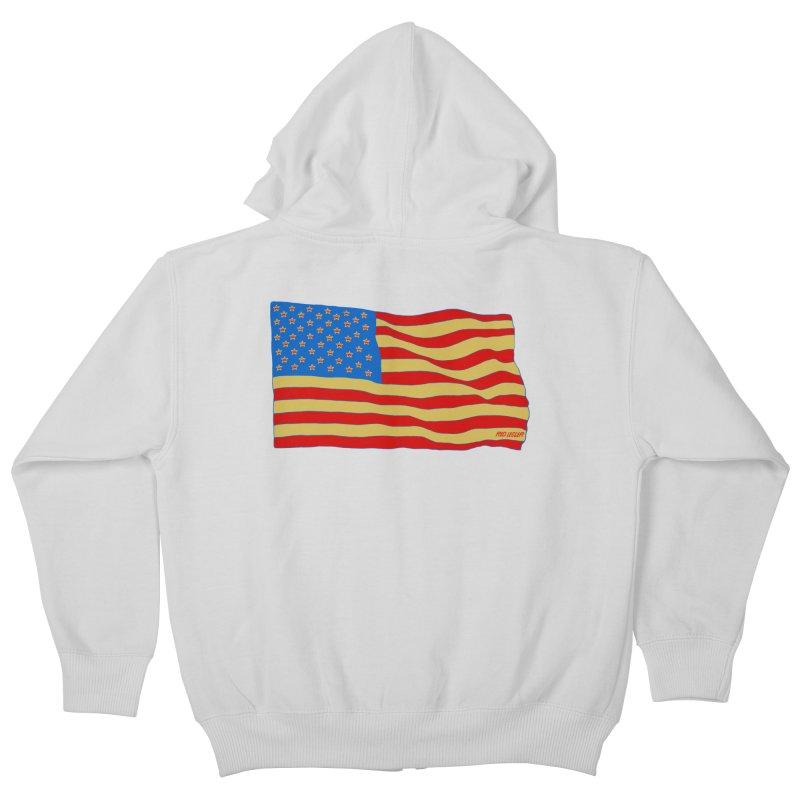 Red Legger Flag Kids Zip-Up Hoody by redleggerstudio's Shop