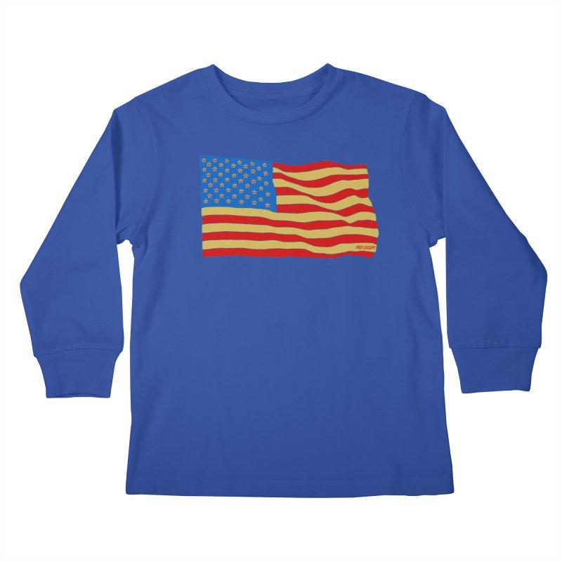 Red Legger Flag Kids Longsleeve T-Shirt by redleggerstudio's Shop