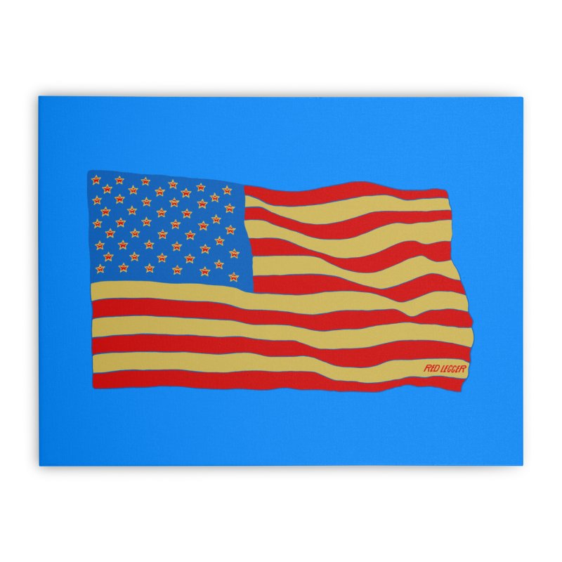 Red Legger Flag Home Stretched Canvas by redleggerstudio's Shop