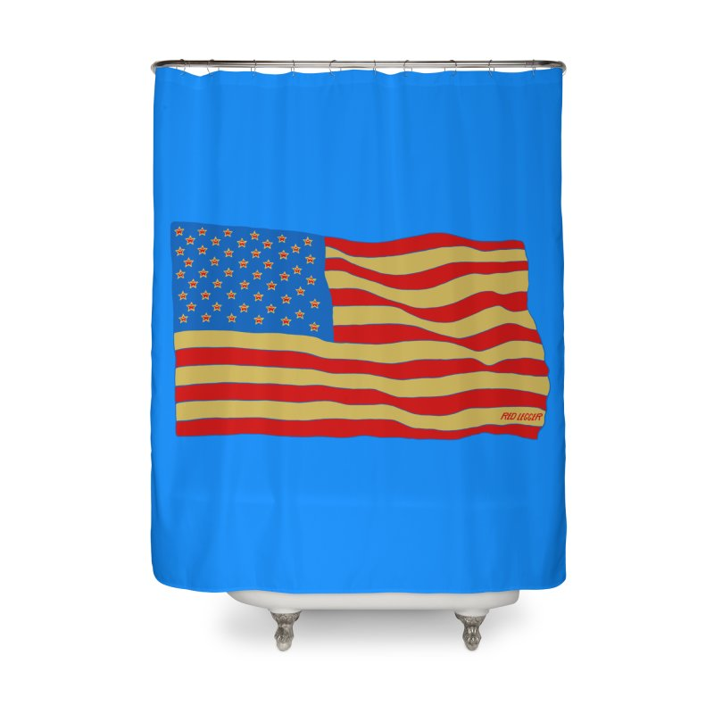 Red Legger Flag Home Shower Curtain by redleggerstudio's Shop