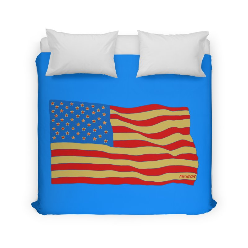 Red Legger Flag Home Duvet by redleggerstudio's Shop