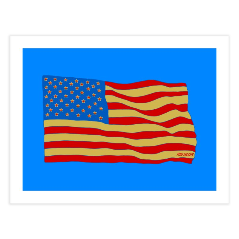 Red Legger Flag Home Fine Art Print by redleggerstudio's Shop