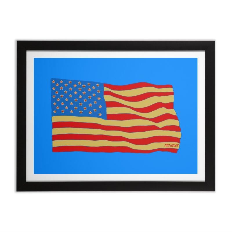 Red Legger Flag Home Framed Fine Art Print by redleggerstudio's Shop