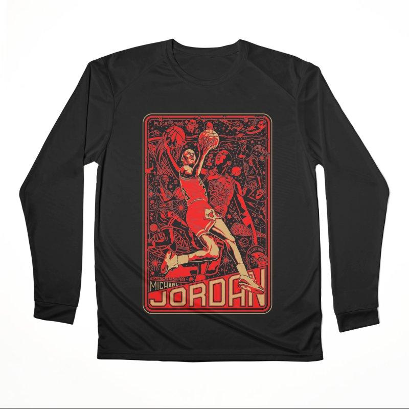 MJ Women's Longsleeve T-Shirt by redleggerstudio's Shop