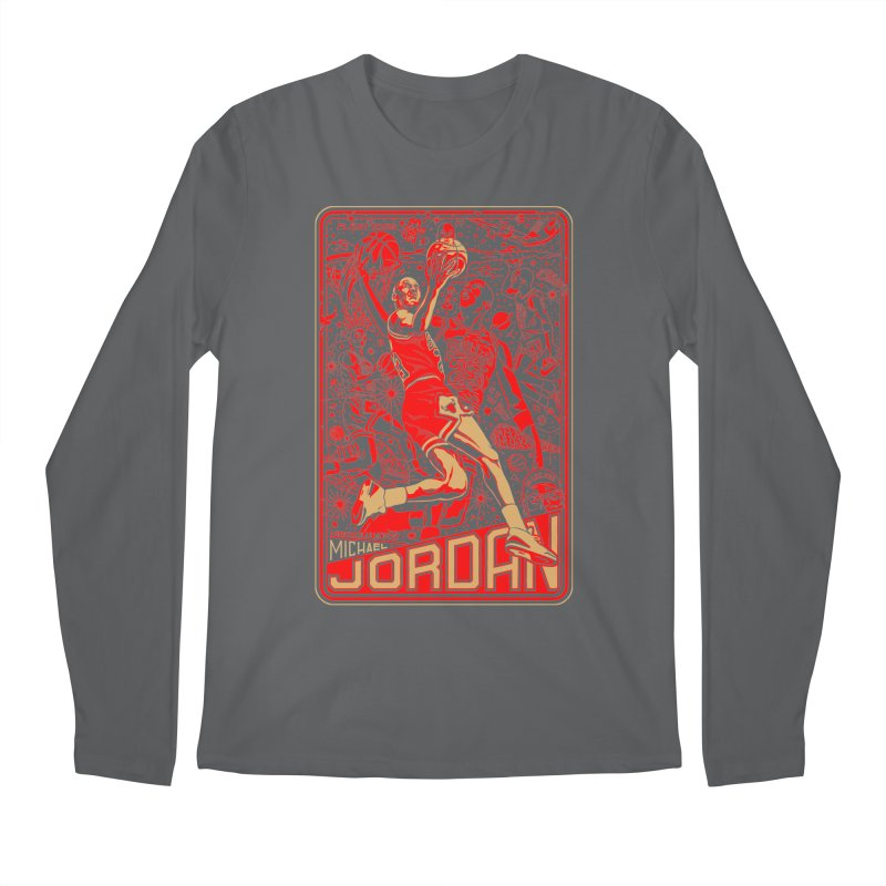 MJ Men's Longsleeve T-Shirt by redleggerstudio's Shop