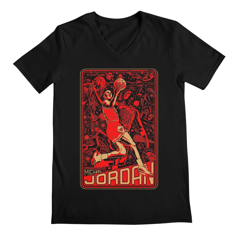 MJ Men's V-Neck by redleggerstudio's Shop