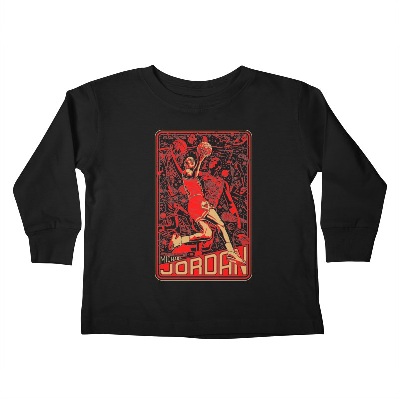 MJ Kids Toddler Longsleeve T-Shirt by redleggerstudio's Shop