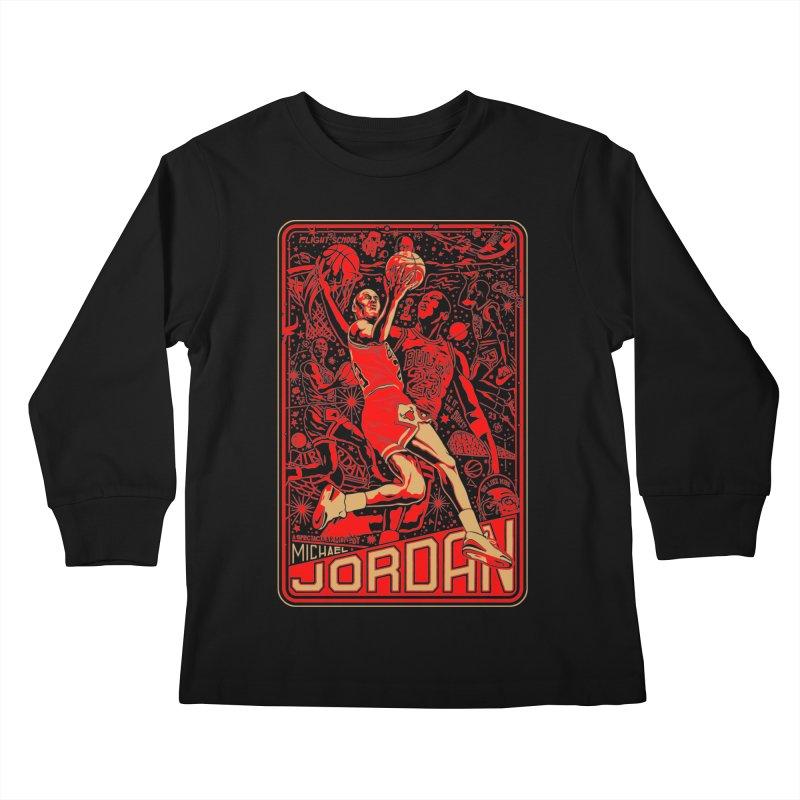 MJ Kids Longsleeve T-Shirt by redleggerstudio's Shop