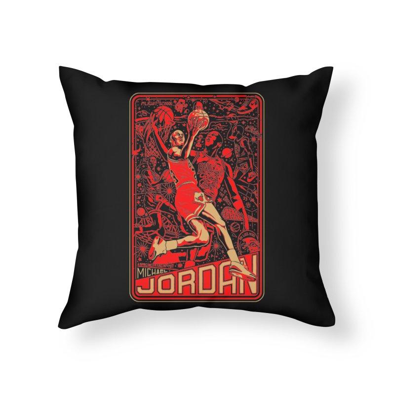 MJ Home Throw Pillow by redleggerstudio's Shop