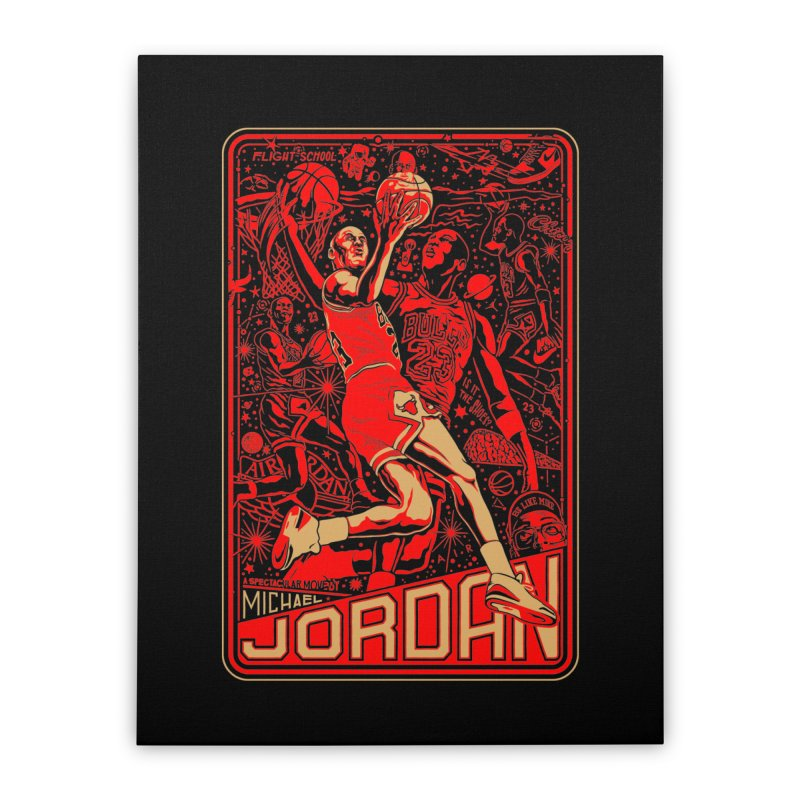 MJ Home Stretched Canvas by redleggerstudio's Shop