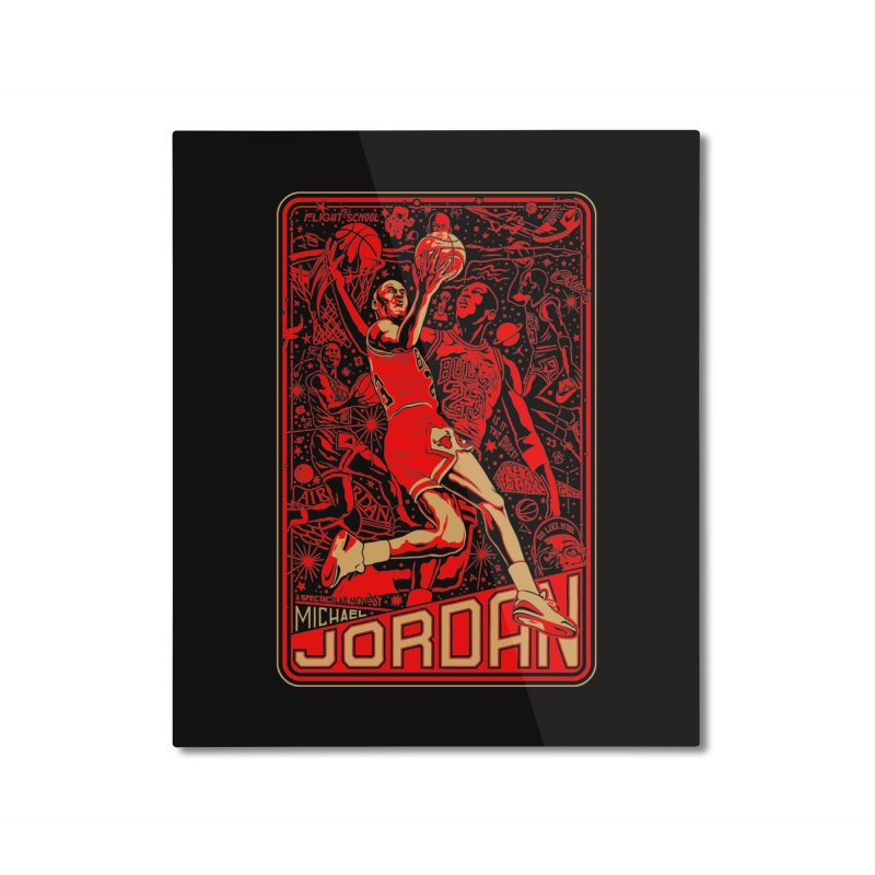 MJ Home Mounted Aluminum Print by redleggerstudio's Shop