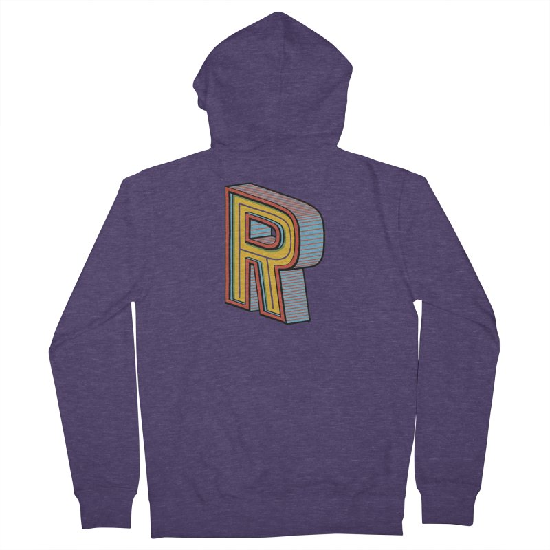Sponsored by the Letter R Men's Zip-Up Hoody by redleggerstudio's Shop