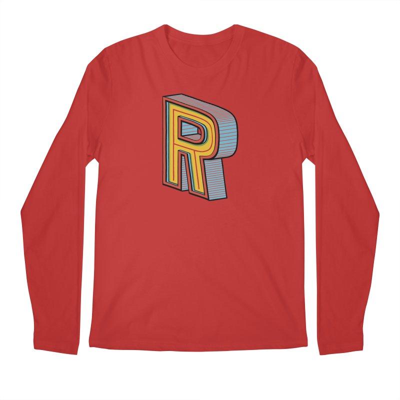 Sponsored by the Letter R Men's Longsleeve T-Shirt by redleggerstudio's Shop