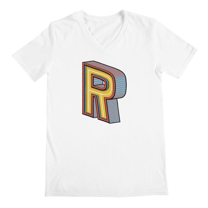 Sponsored by the Letter R Men's V-Neck by redleggerstudio's Shop