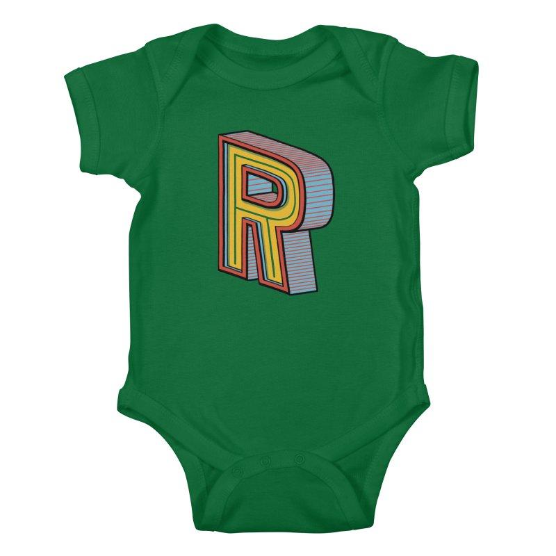 Sponsored by the Letter R Kids Baby Bodysuit by redleggerstudio's Shop
