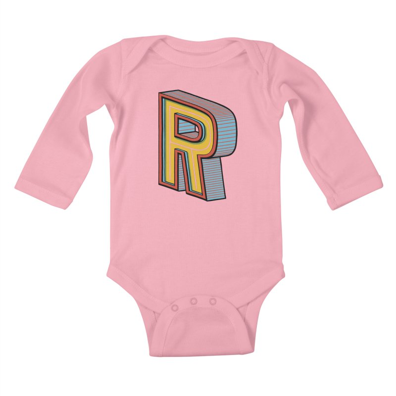 Sponsored by the Letter R Kids Baby Longsleeve Bodysuit by redleggerstudio's Shop