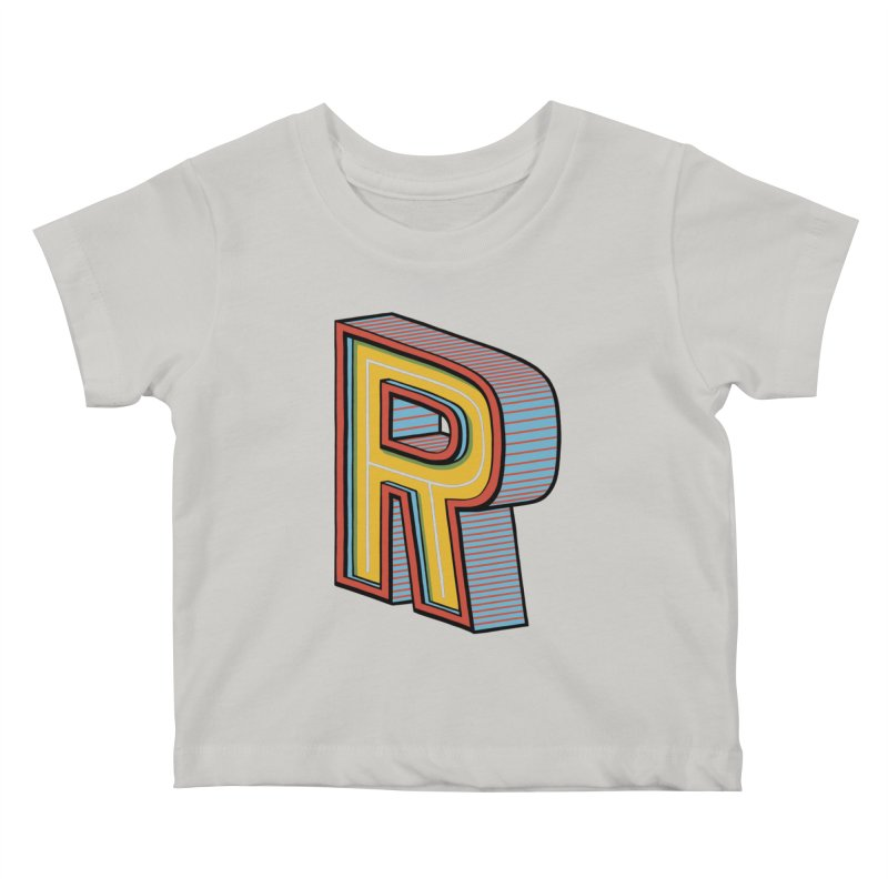Sponsored by the Letter R Kids Baby T-Shirt by redleggerstudio's Shop