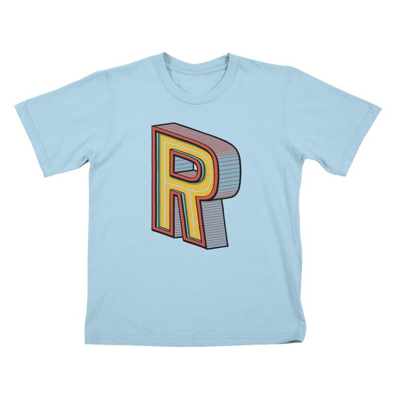 Sponsored by the Letter R Kids T-Shirt by redleggerstudio's Shop