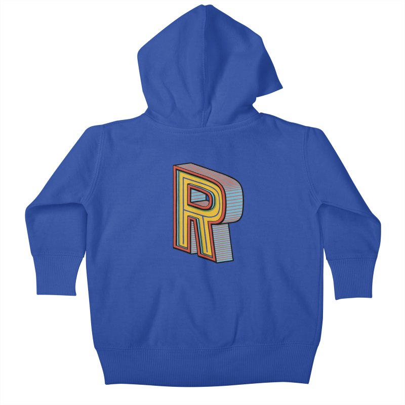 Sponsored by the Letter R Kids Baby Zip-Up Hoody by redleggerstudio's Shop