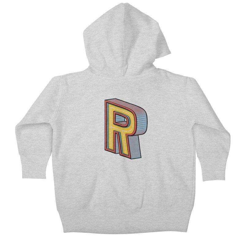 Sponsored by the Letter R Kids Baby Zip-Up Hoody by redleggerstudio's Shop