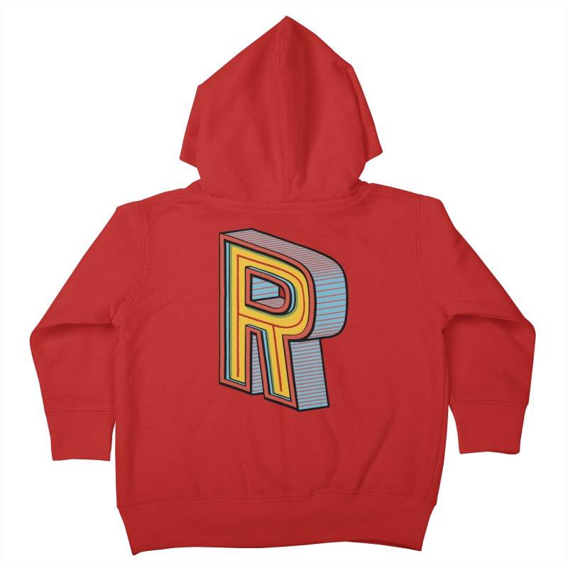 Sponsored by the Letter R Kids Toddler Zip-Up Hoody by redleggerstudio's Shop
