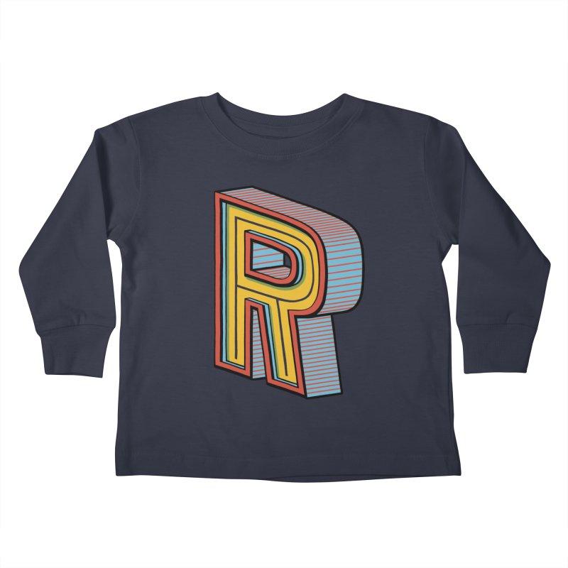Sponsored by the Letter R Kids Toddler Longsleeve T-Shirt by redleggerstudio's Shop