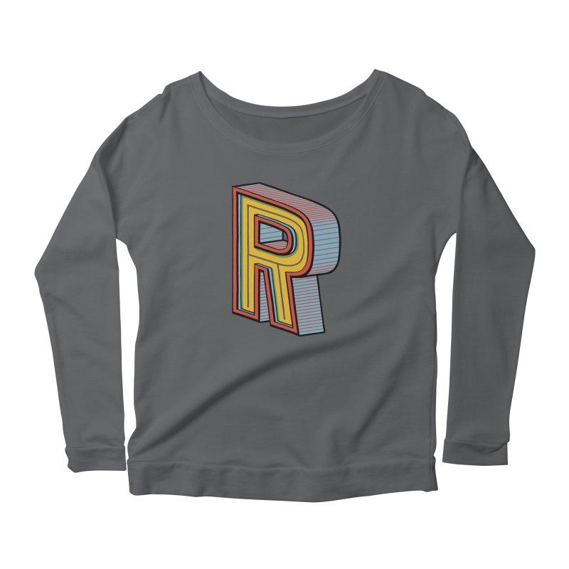 Sponsored by the Letter R Women's Longsleeve Scoopneck  by redleggerstudio's Shop
