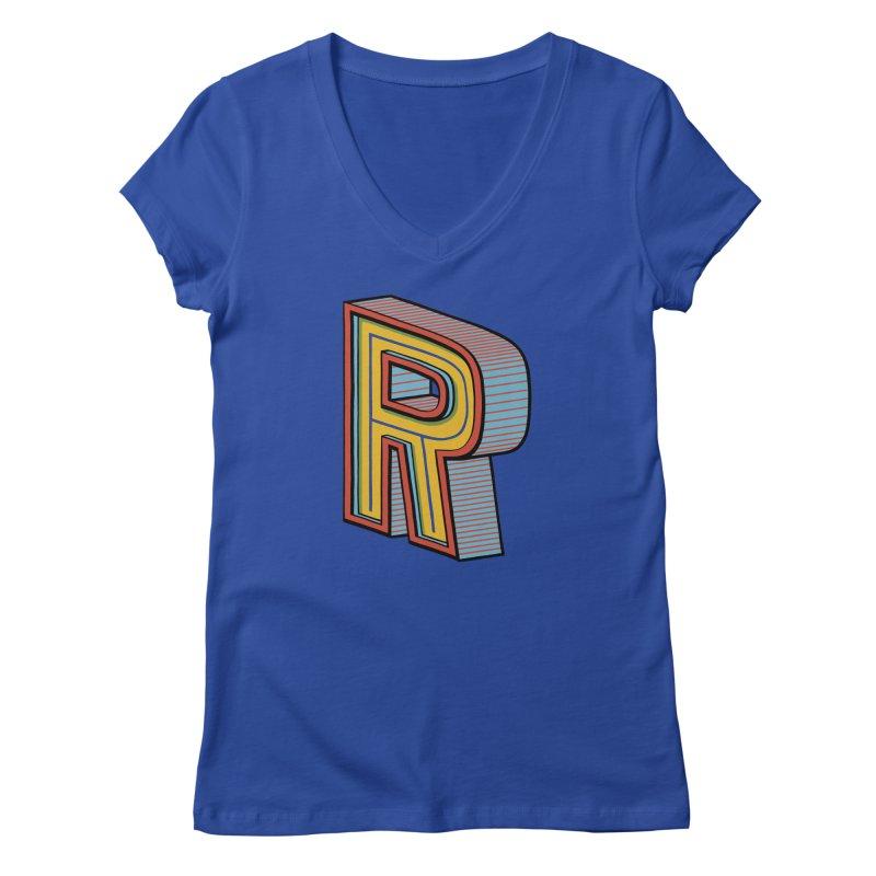 Sponsored by the Letter R Women's V-Neck by redleggerstudio's Shop