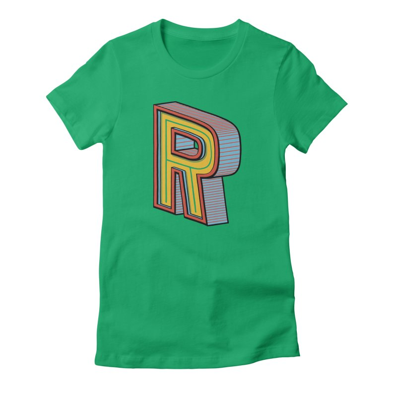 Sponsored by the Letter R Women's Fitted T-Shirt by redleggerstudio's Shop