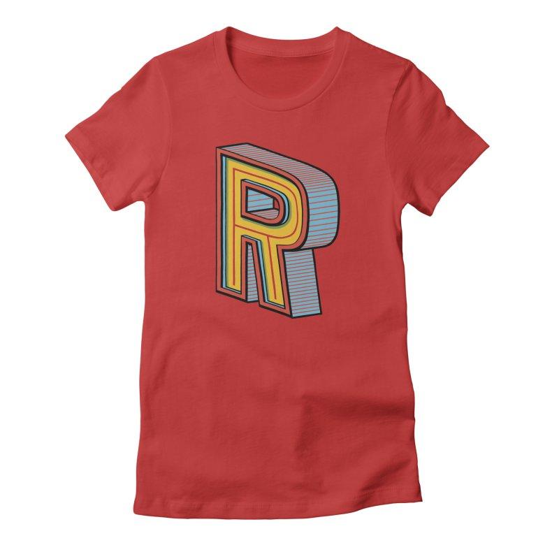 Sponsored by the Letter R Women's Fitted T-Shirt by redleggerstudio's Shop