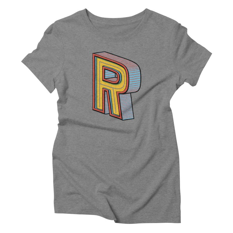 Sponsored by the Letter R Women's Triblend T-shirt by redleggerstudio's Shop