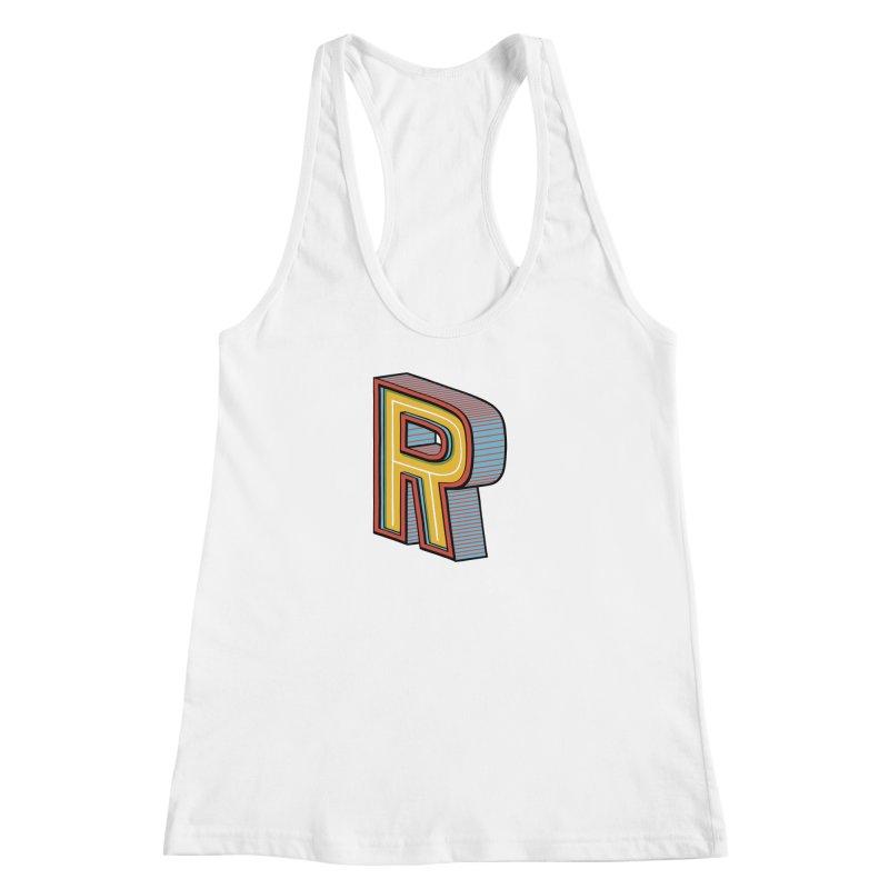 Sponsored by the Letter R Women's Racerback Tank by redleggerstudio's Shop