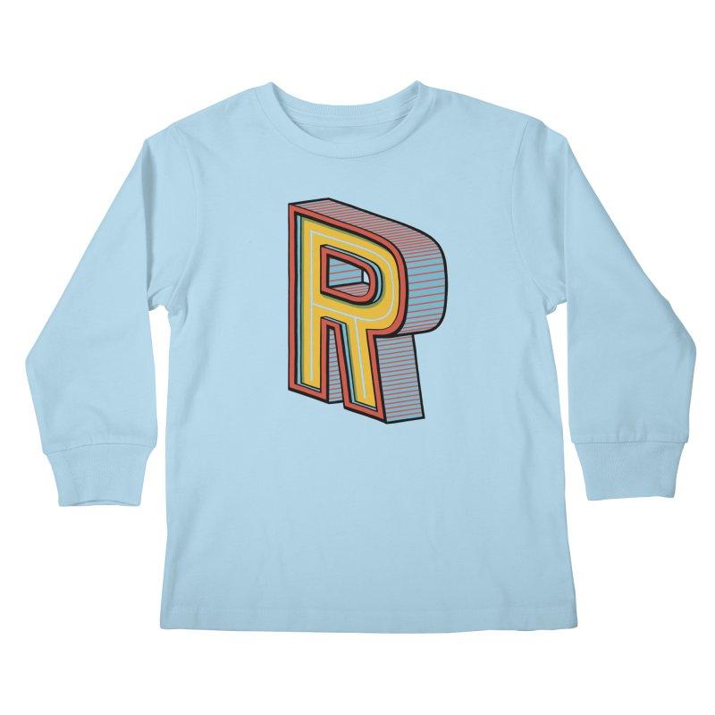 Sponsored by the Letter R Kids Longsleeve T-Shirt by redleggerstudio's Shop