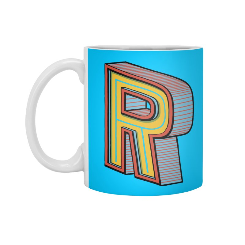 Sponsored by the Letter R Accessories Mug by redleggerstudio's Shop