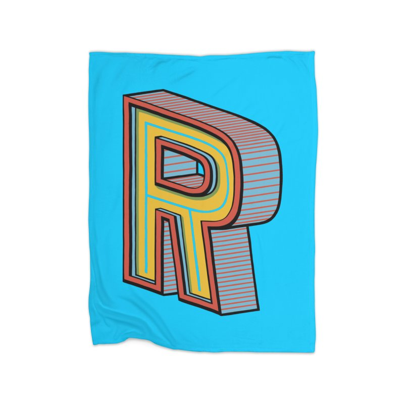 Sponsored by the Letter R Home Blanket by redleggerstudio's Shop