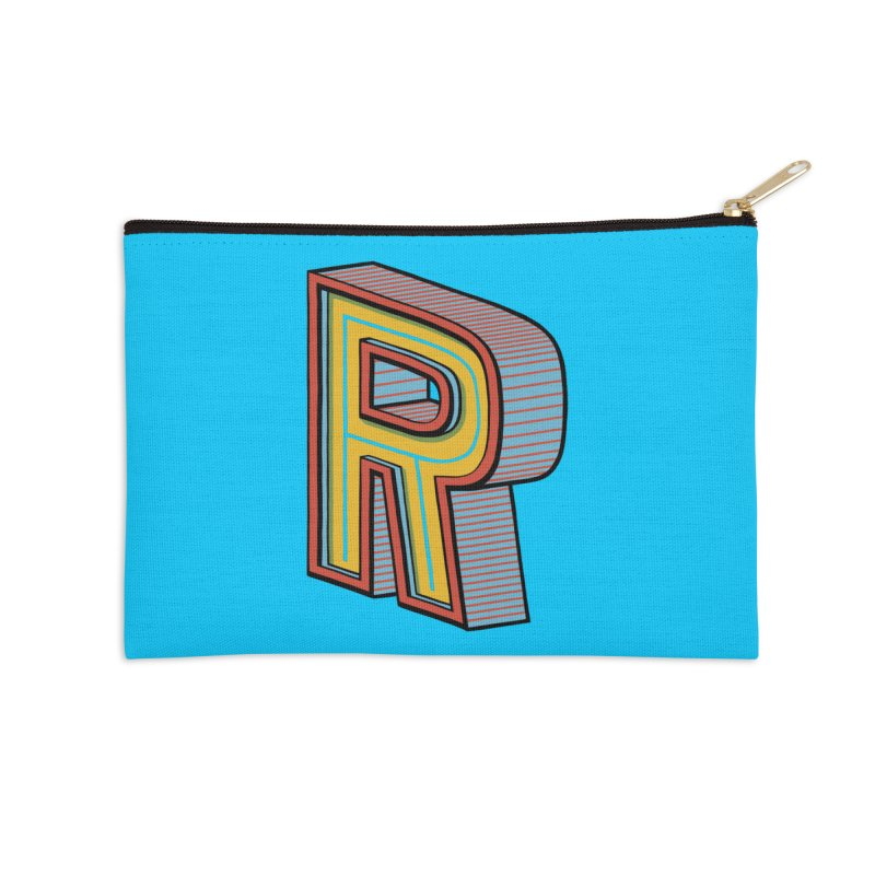 Sponsored by the Letter R Accessories Zip Pouch by redleggerstudio's Shop