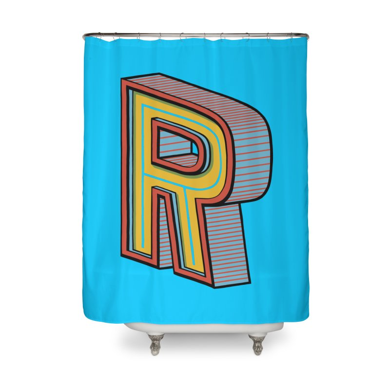 Sponsored by the Letter R Home Shower Curtain by redleggerstudio's Shop