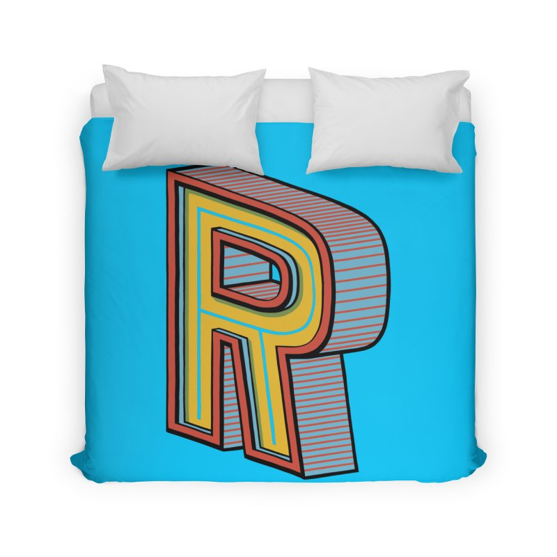 Sponsored by the Letter R Home Duvet by redleggerstudio's Shop