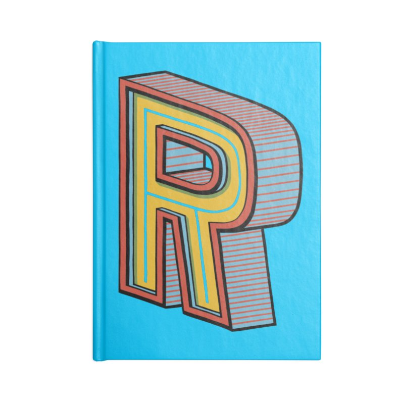 Sponsored by the Letter R Accessories Notebook by redleggerstudio's Shop