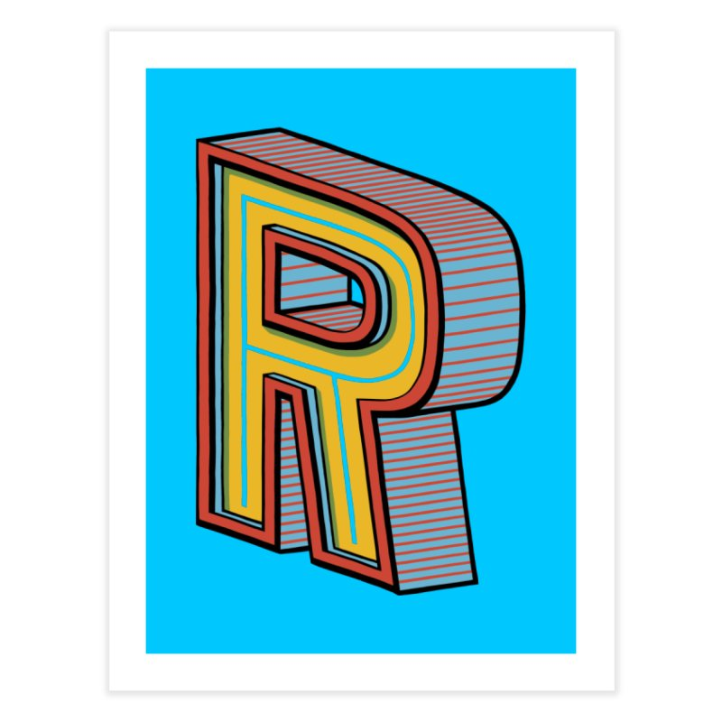 Sponsored by the Letter R Home Fine Art Print by redleggerstudio's Shop