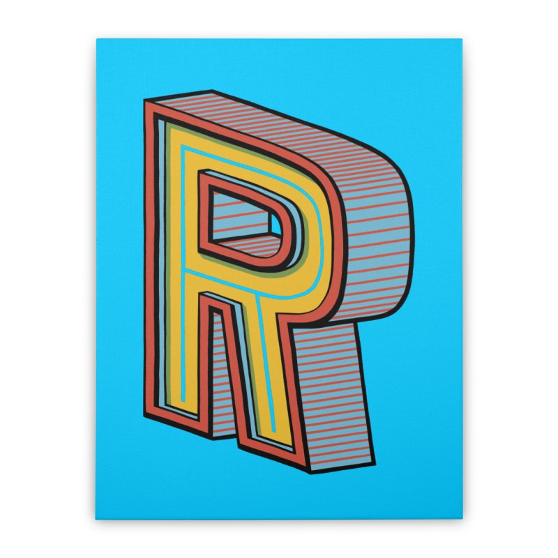 Sponsored by the Letter R Home Stretched Canvas by redleggerstudio's Shop